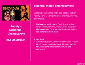 Astro Package Indian Entertainmemt