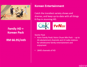 Astro Package Korean Pack with Family HD