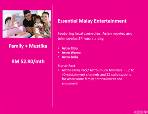 Astro Package Malay Entertainmemt